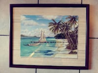 Beach boat an.palm wall decor for home or camper Myrtle Beach, 29577