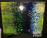 Fluid acrylic swipe on gallery wrapped canvas Akron