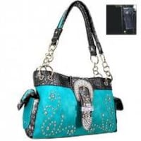 NWT Concealed Handgun Western Style Shoulder Bag-Turquoise Purse Omaha