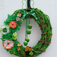 green and yellow floral wreath Hampton, 23666