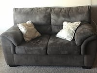 Gray fabric 2-seat sofa  null