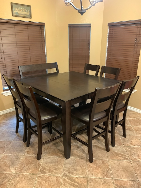 Counter Height Dining Table With Six 6 Chairs And One 1 Bench