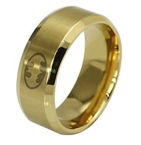 Gold Coloured Stainles Steel Batman Ring 3497 km