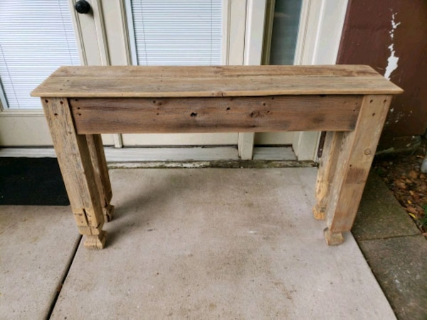 Used Table Side Sofa Tv Stand Rustic For