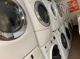 Washer and dryer 599 per a set big capacity for bedding items
