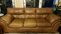 Leather sofa, 3-seater  Princeton, 08540