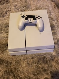 white Sony PS4 console with controller Laurel, 20707