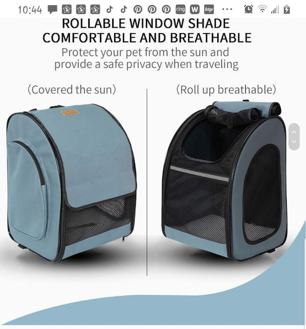 """""""Akinerri"""" Backpack Pet Carrier (airline approved) 14d45006-701a-496e-911e-23f17ad93404"""
