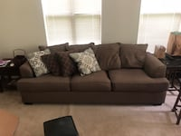 gray fabric 3-seat sofa with throw pillows Hyattsville, 20782