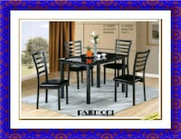 Marble table new with 4 chairs Laurel
