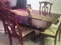 Cherrywood all wood Dining Table,4 chairs,Table Leaf Upper Marlboro, 20774