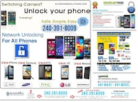 Electronic repairs, carrier unlock  Hyattsville, 20782
