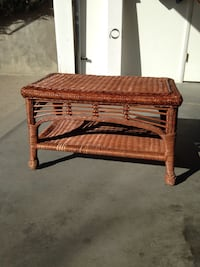 Wicker Coffee Table with Corrian top