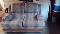 two gray-and-brown fabric sofa chairs 41 km