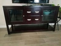 brown wooden TV stand with cabinet Harker Heights, 76548