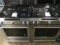 Brand New Stainless Gas Stoves