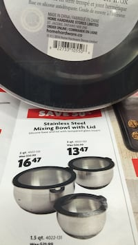 Black and gray great bowls with sealing lids , brand new only 3 sizes left  Vancouver, V6E 1M5