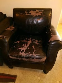 Used leather arm chair