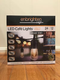 NEW Enbrighten Vintage 24 ft. LED Cafe String Lights with 12 Lights Springfield, 22151