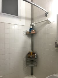 Shower storage- tension rod