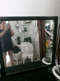 black wooden framed wall mirror St. Catharines, L2R 3X9
