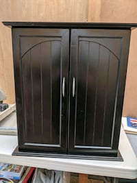 Black wood bathroom cabinet