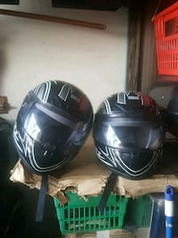 2 bike helmets 59-60cm large 60$ both
