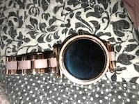 Silver rose-gold colored micheal kors touch watch with Bluetooth Terrell Hills, 78209