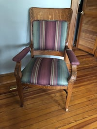4 Brown wooden framed silk padded armchairs Owings Mills, 21117