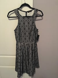 Lace dress, black and white