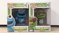 Funko pops Sesame street (cookie monster and oscar the grouch) Barrie, L4N 0Y9