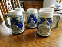 5 small steins Columbia, 29203