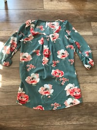 Floral Top size Small Lincoln, L0R