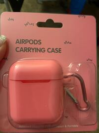 Pink airpods case and earphone silicon tips Newport News, 23601
