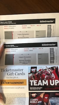 Stampeders tickets  Calgary, T2V 0H6