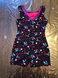 5 Items: Girls Leotard/Unitard/Shorts Sz 6x to 8 Details Below