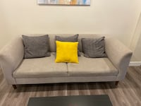 EQ2 Grey Sofa w/ pillows Vancouver, V6G 2G5