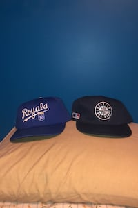 Fitted KC Royals cap and Seattle Mariners snap from Miller Park Brampton, L6W 2E2