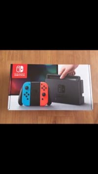 Black and red nintendo switch box