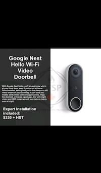 Google Nest Hello WiFi Video Doorbell  Toronto