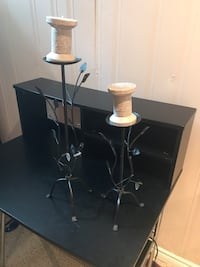 PIER 1 IMPORTS CANDLE+CANDLE STANDS!  Pickering