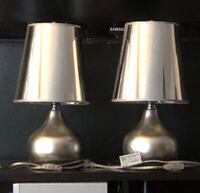 Pair of Silver bedside table lamps with shades  West Hollywood, 90046