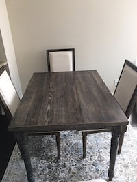 Rustic wood Table from Wayfair and Dining chairs from Decorium! Toronto, M2N 4R9