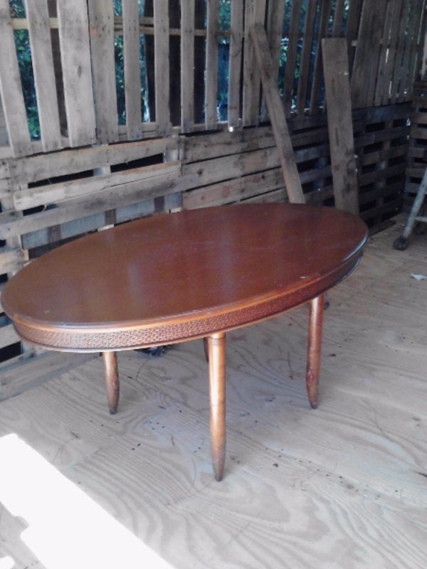 solid wood, oval table for kitchen