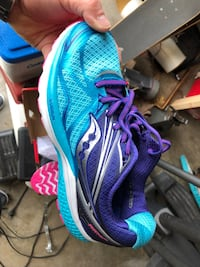 pair of blue-and-blue running shoes West Des Moines, 50265