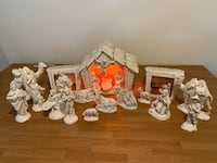 Atlantic Mold (1973) Christmas Nativity Scene (22 pieces) Pottstown, 19464