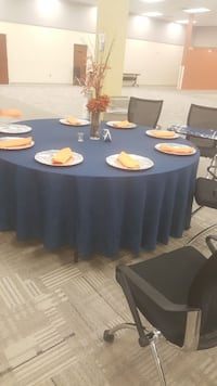 Navy blue 120 inch tablecloth