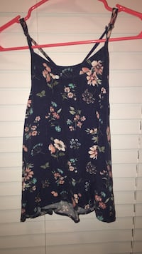 women's black and white floral scoop-neck sleeveless mini dress Purcellville, 20132
