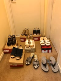 8 pair of brand new women shoes size 7.5 & 8 for $140all together Gaithersburg, 20877