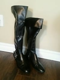 black leather knee-high boots London, N6E 2M5